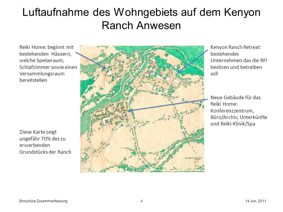 Luftaufnahme des Wohngebiets auf dem Kenyon Ranch Anwesen