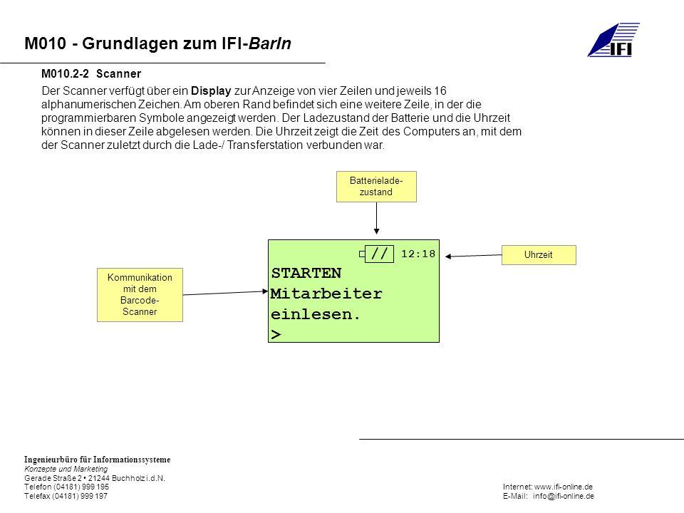 Kommunikation mit dem Barcode-Scanner