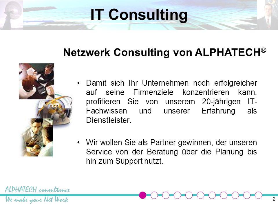 Netzwerk Consulting von ALPHATECH®