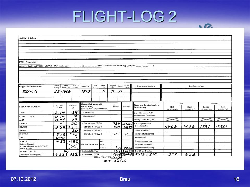 FLIGHT-LOG 2 07.12.2012 Breu