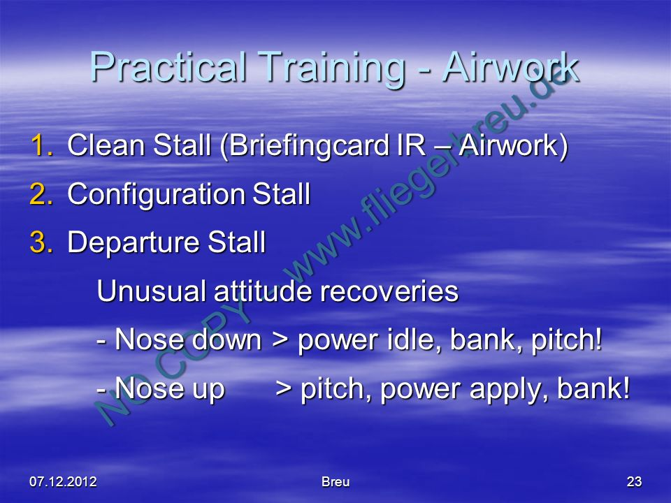 Practical Training - Airwork