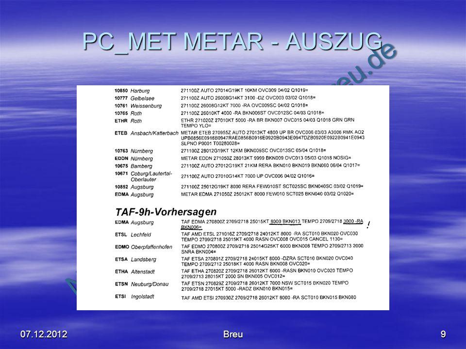 PC_MET METAR - AUSZUG 07.12.2012 Breu