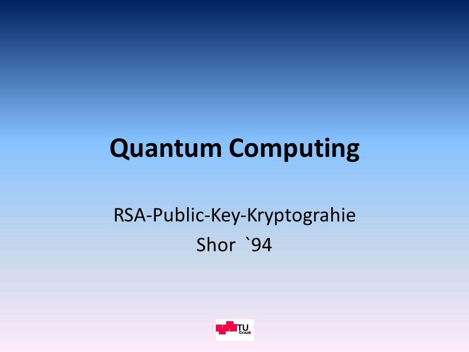 TU GRAZ RSA-Public-Key-Kryptograhie Shor `94