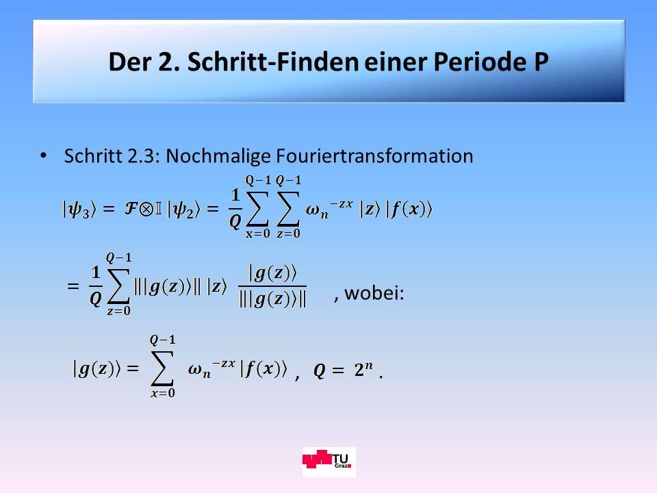 Der 2. Schritt-Finden einer Periode P