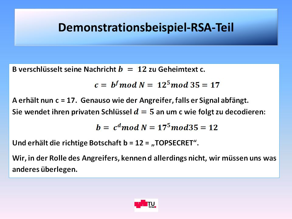 Demonstrationsbeispiel-RSA-Teil