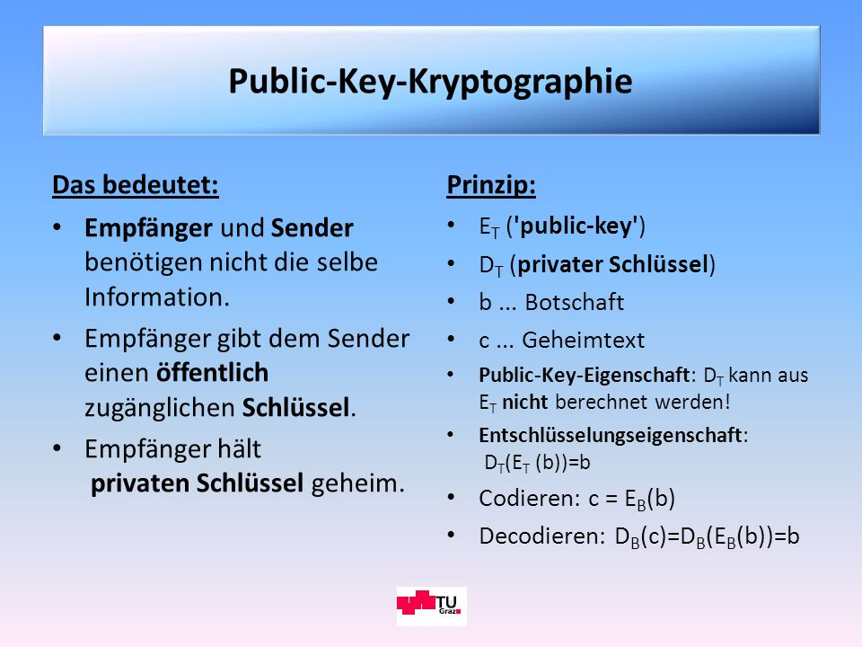 Public-Key-Kryptographie
