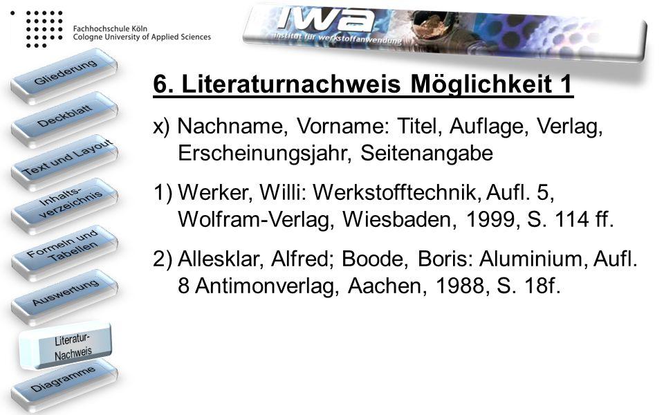 6. Literaturnachweis Möglichkeit 1