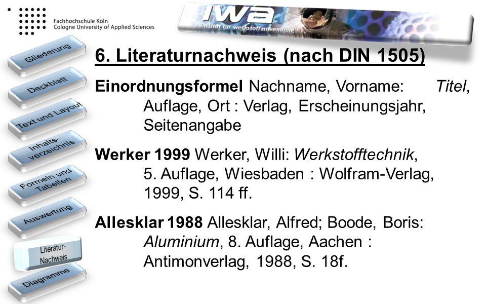 6. Literaturnachweis (nach DIN 1505)