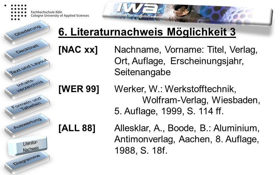 6. Literaturnachweis Möglichkeit 3