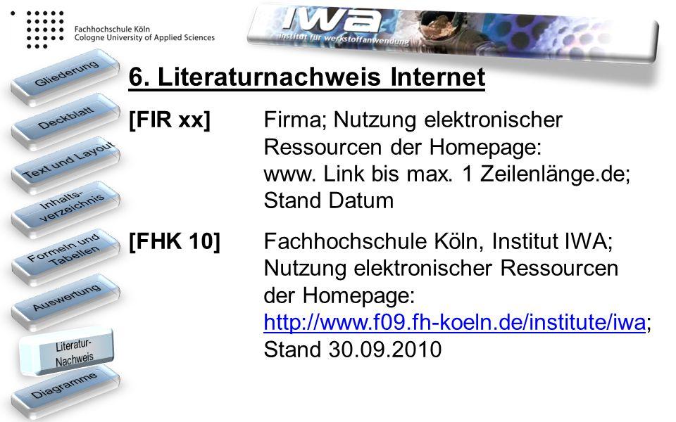 6. Literaturnachweis Internet
