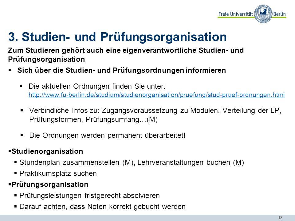 3. Studien- und Prüfungsorganisation