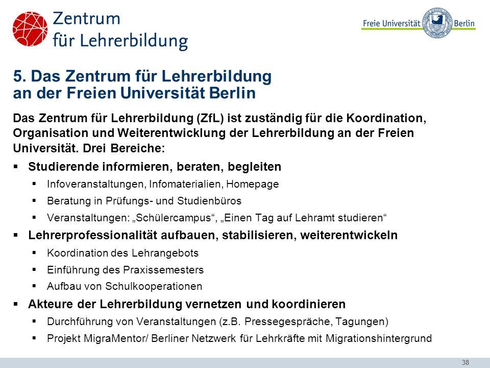 5. Das Zentrum für Lehrerbildung an der Freien Universität Berlin