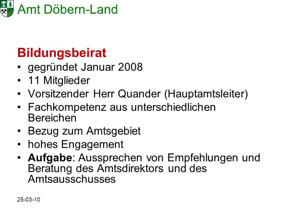 Bildungsbeirat gegründet Januar 2008 11 Mitglieder