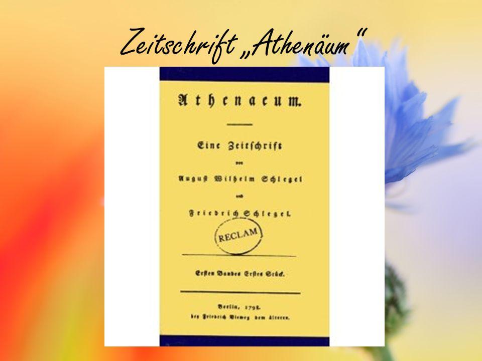 """Zeitschrift """"Athenäum"""