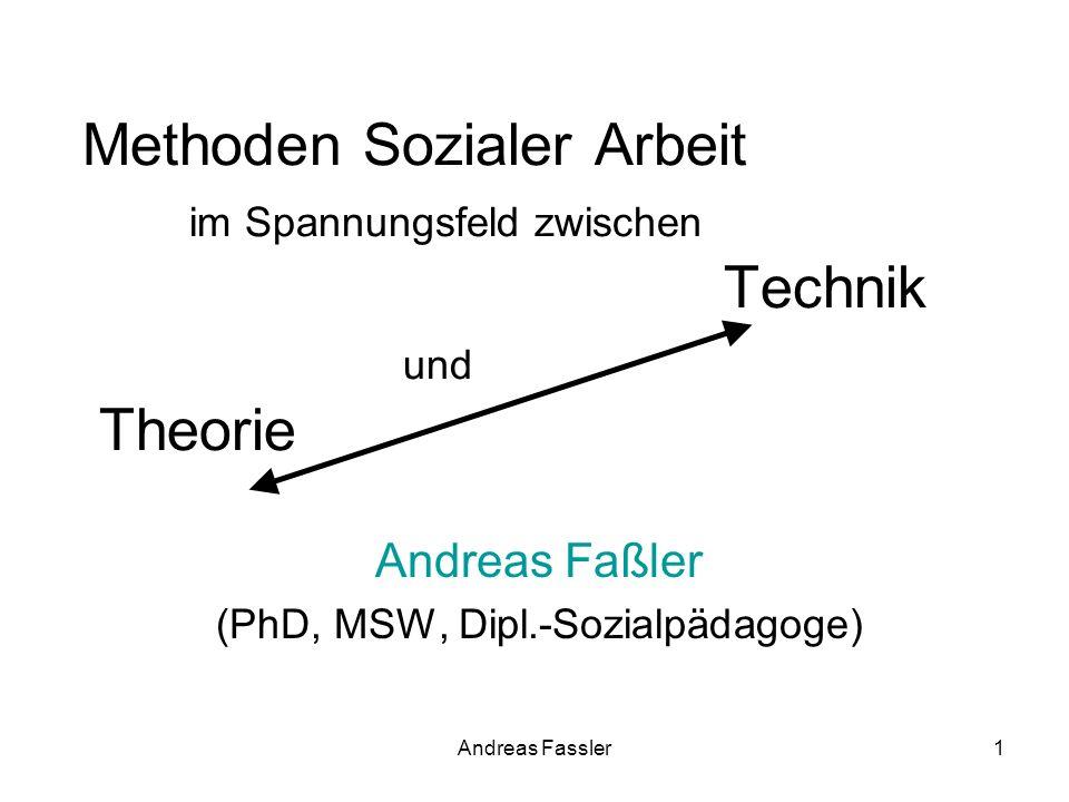 Methoden Sozialer Arbeit im Spannungsfeld zwischen Technik und Theorie