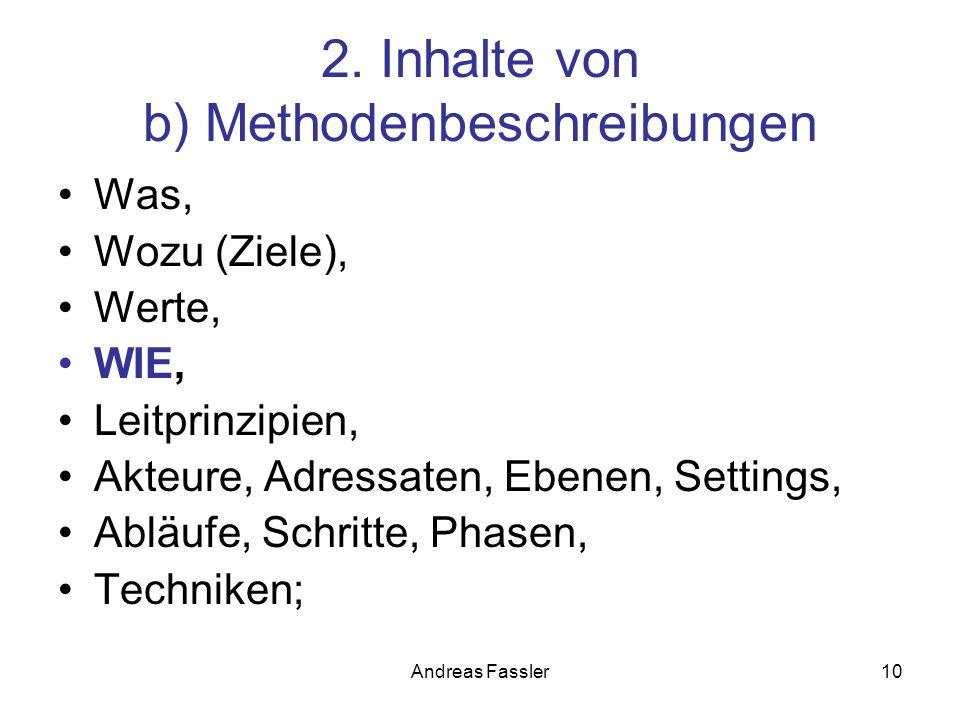 2. Inhalte von b) Methodenbeschreibungen