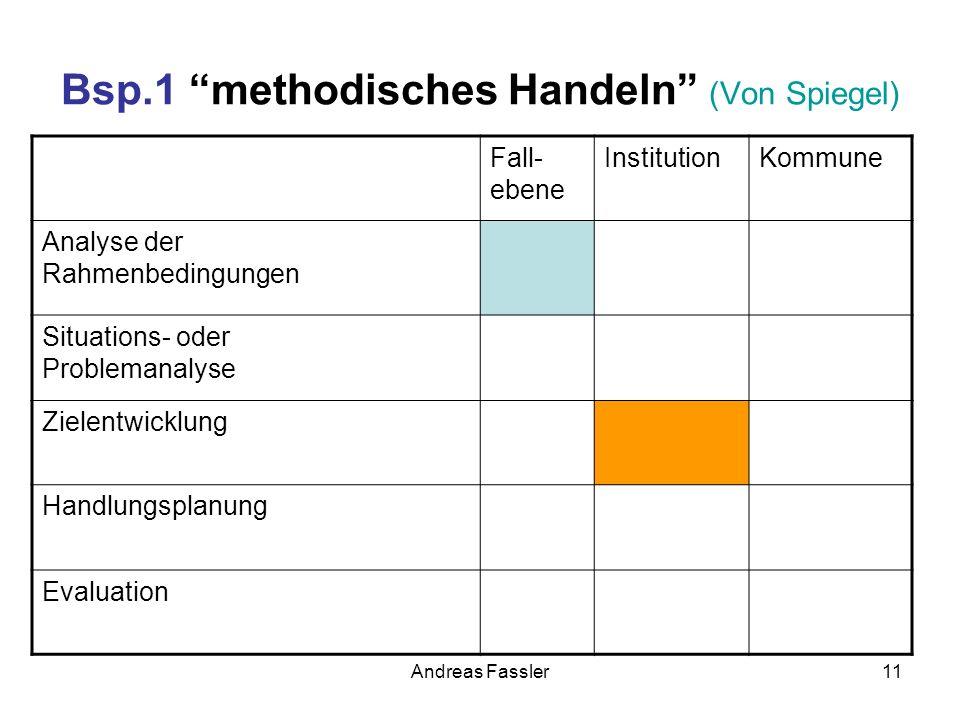 Bsp.1 methodisches Handeln (Von Spiegel)
