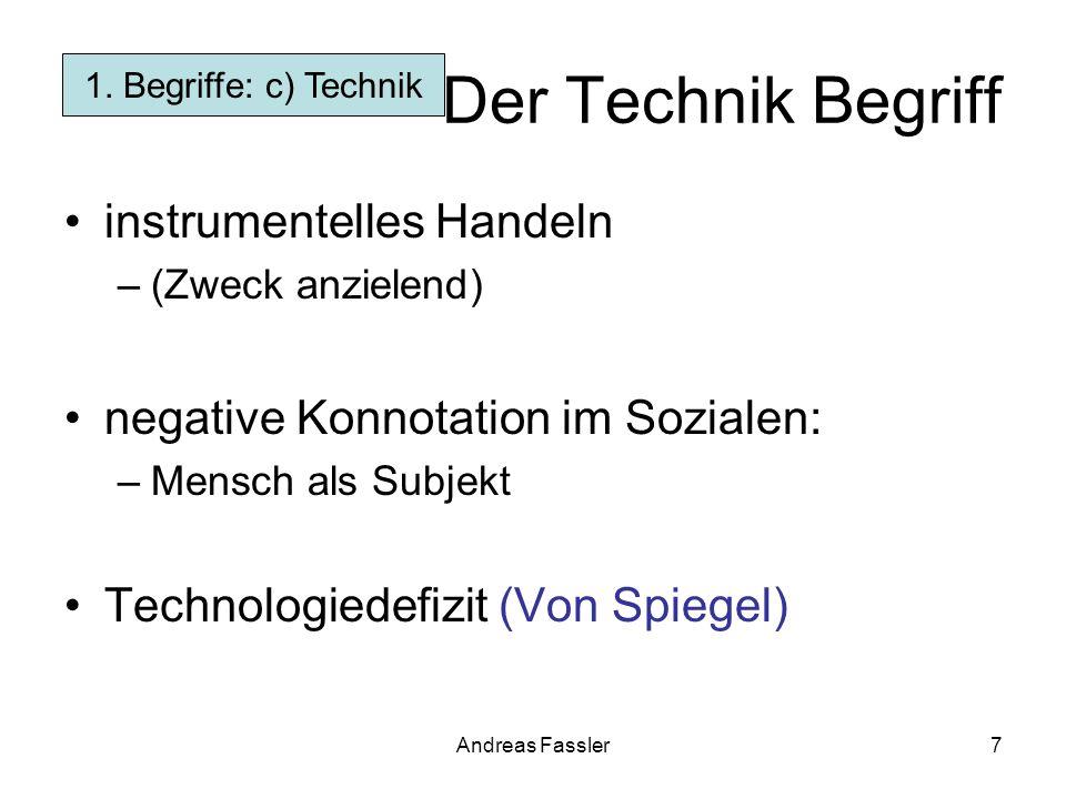 Der Technik Begriff instrumentelles Handeln