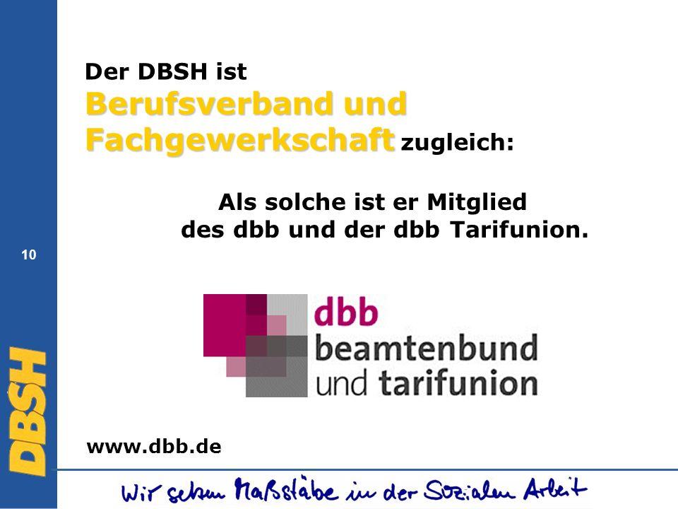 Der DBSH ist Berufsverband und Fachgewerkschaft zugleich: