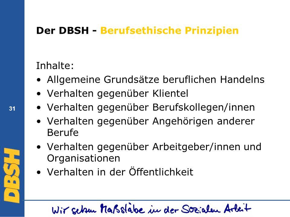 Der DBSH - Berufsethische Prinzipien