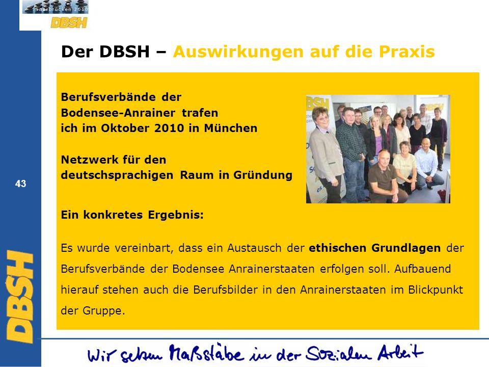 Der DBSH – Auswirkungen auf die Praxis