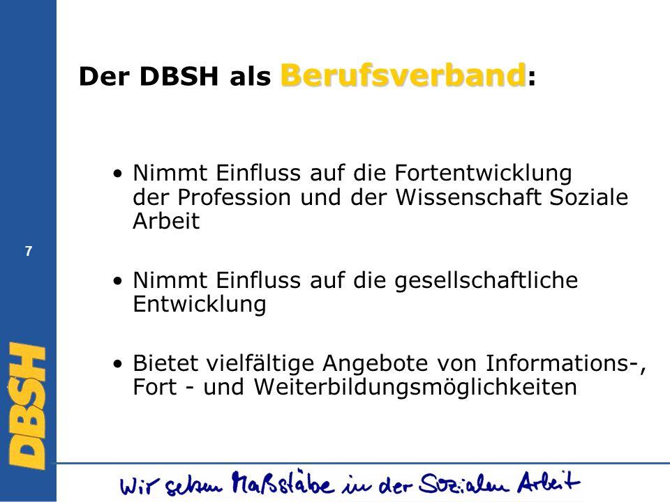 Der DBSH als Berufsverband: