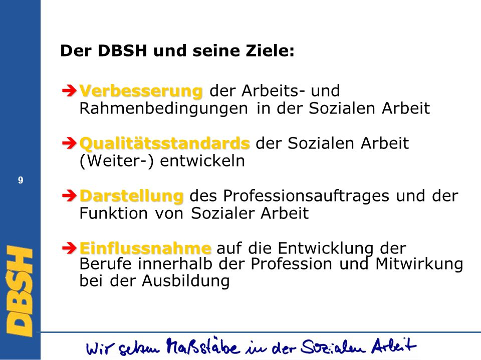 Der DBSH und seine Ziele: