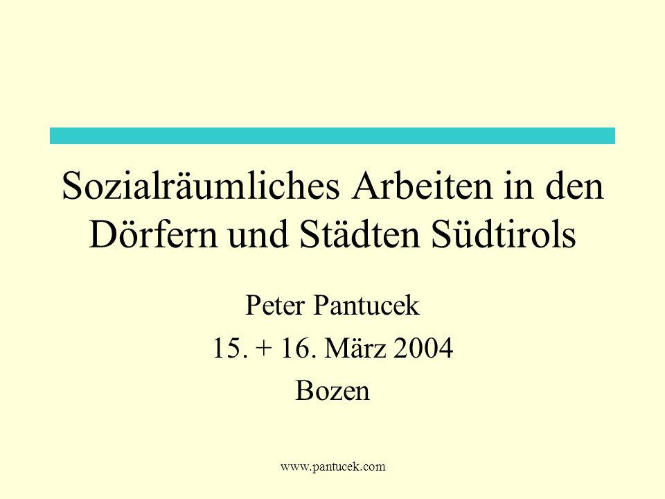 Sozialräumliches Arbeiten in den Dörfern und Städten Südtirols