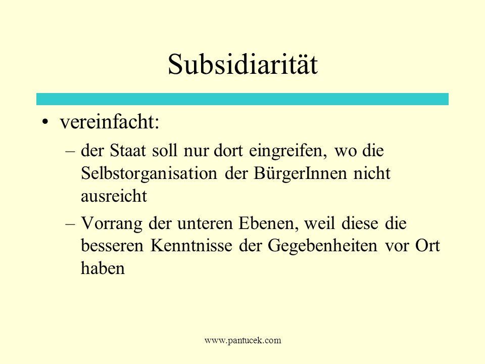 Subsidiarität vereinfacht: