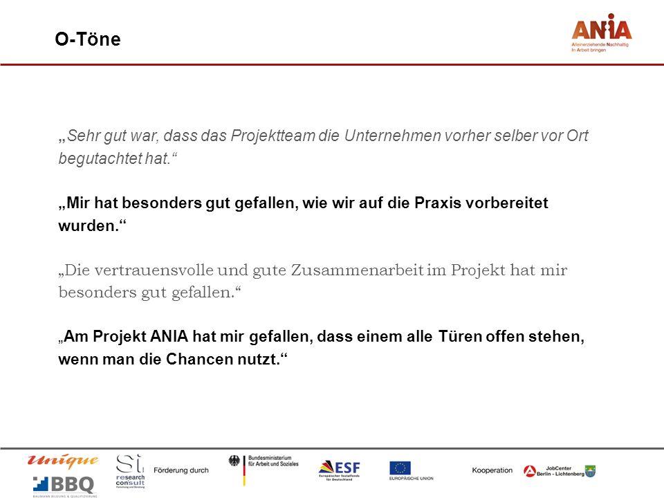 """O-Töne """"Sehr gut war, dass das Projektteam die Unternehmen vorher selber vor Ort begutachtet hat."""