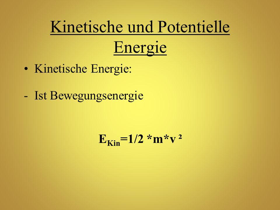 Kinetische und Potentielle Energie
