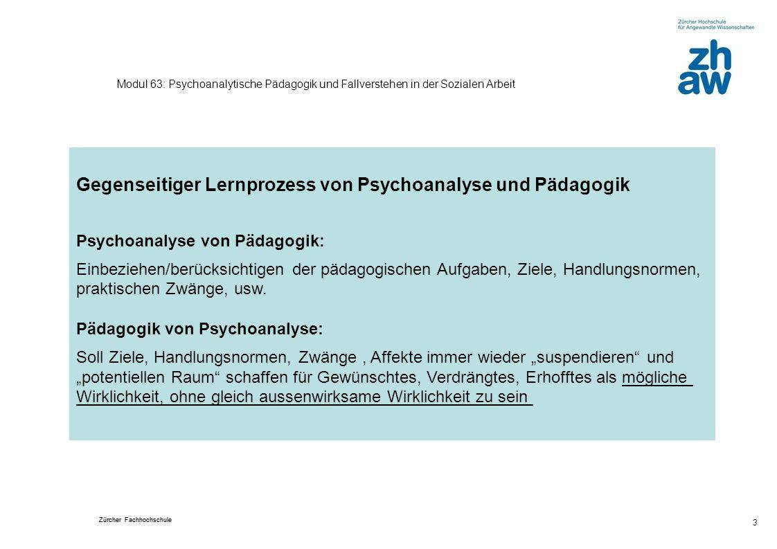 Gegenseitiger Lernprozess von Psychoanalyse und Pädagogik