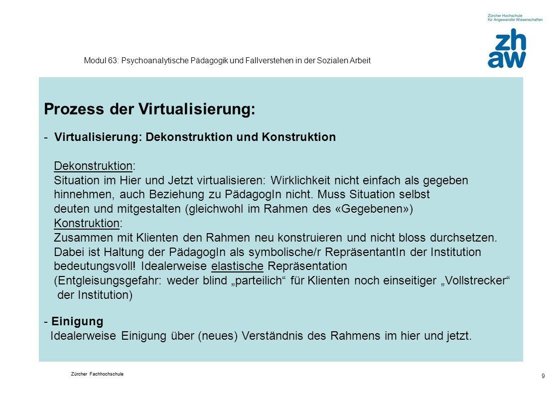 Prozess der Virtualisierung: