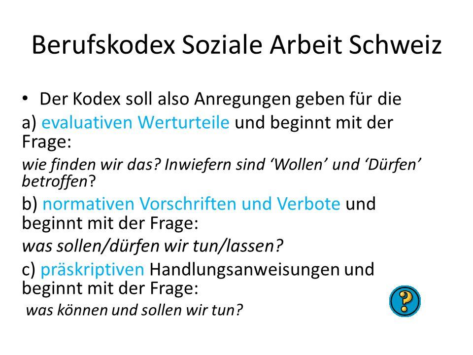 Berufskodex Soziale Arbeit Schweiz
