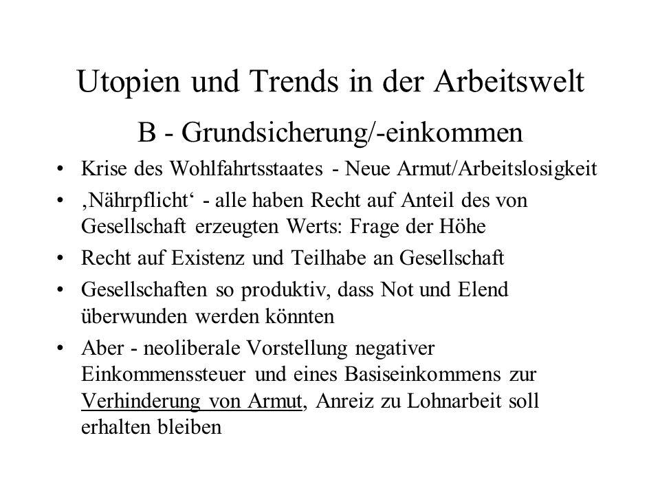 Utopien und Trends in der Arbeitswelt