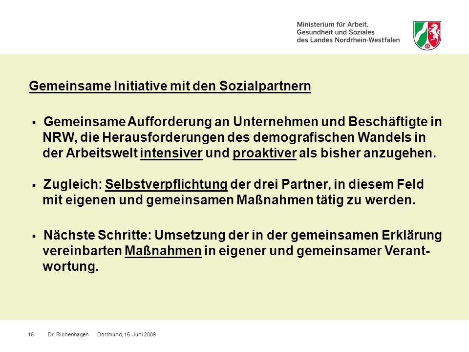 Gemeinsame Initiative mit den Sozialpartnern