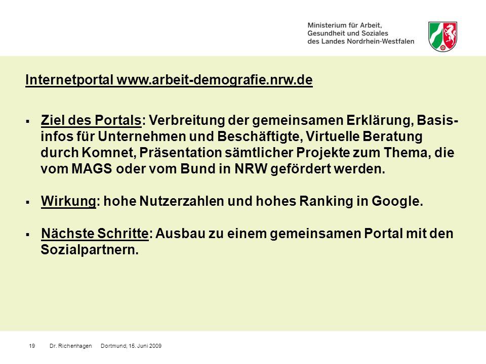 Internetportal www.arbeit-demografie.nrw.de
