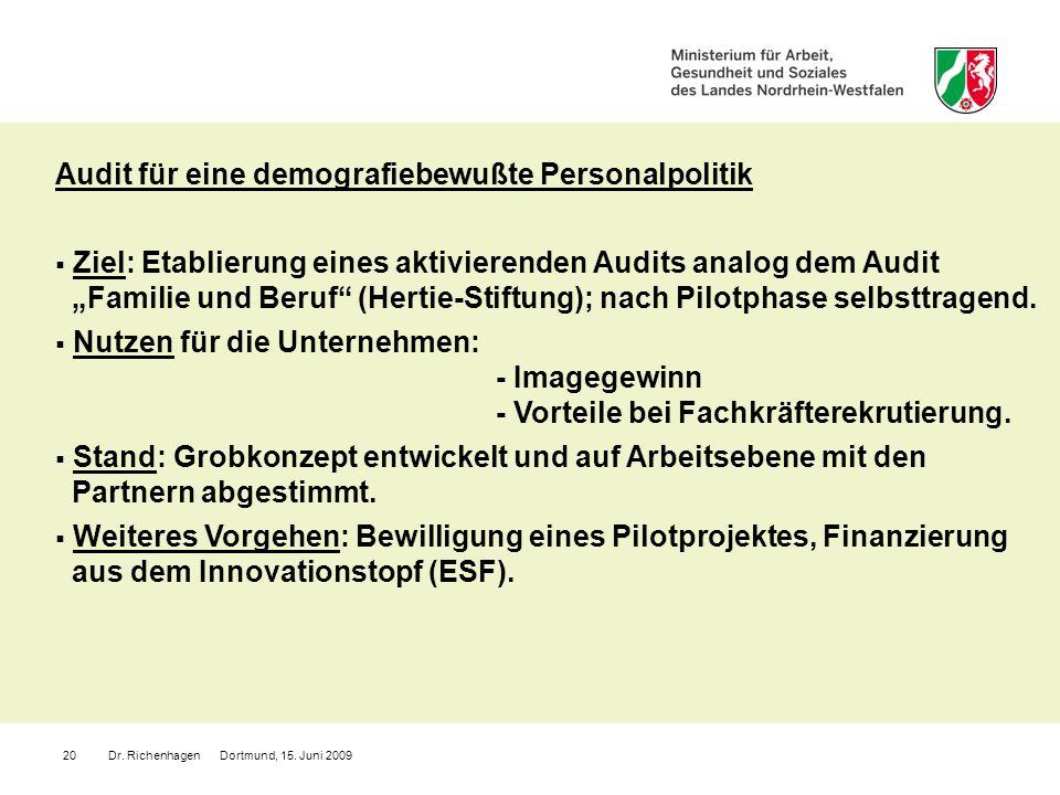 Audit für eine demografiebewußte Personalpolitik