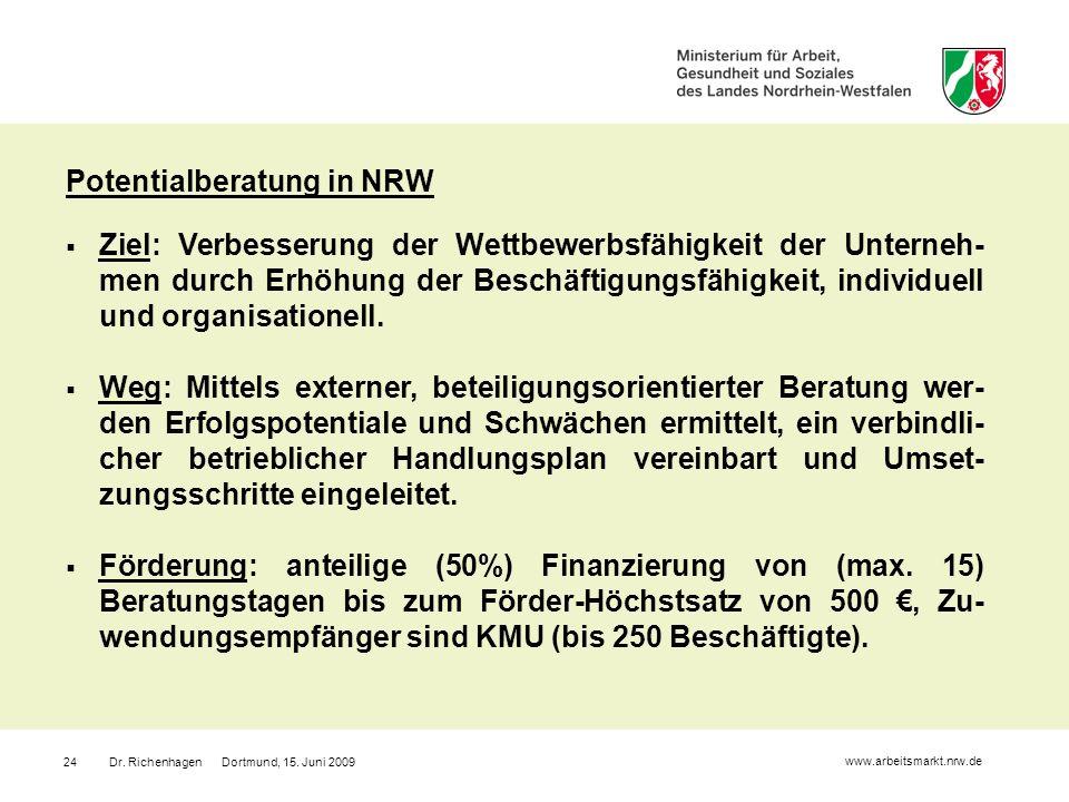 Potentialberatung in NRW