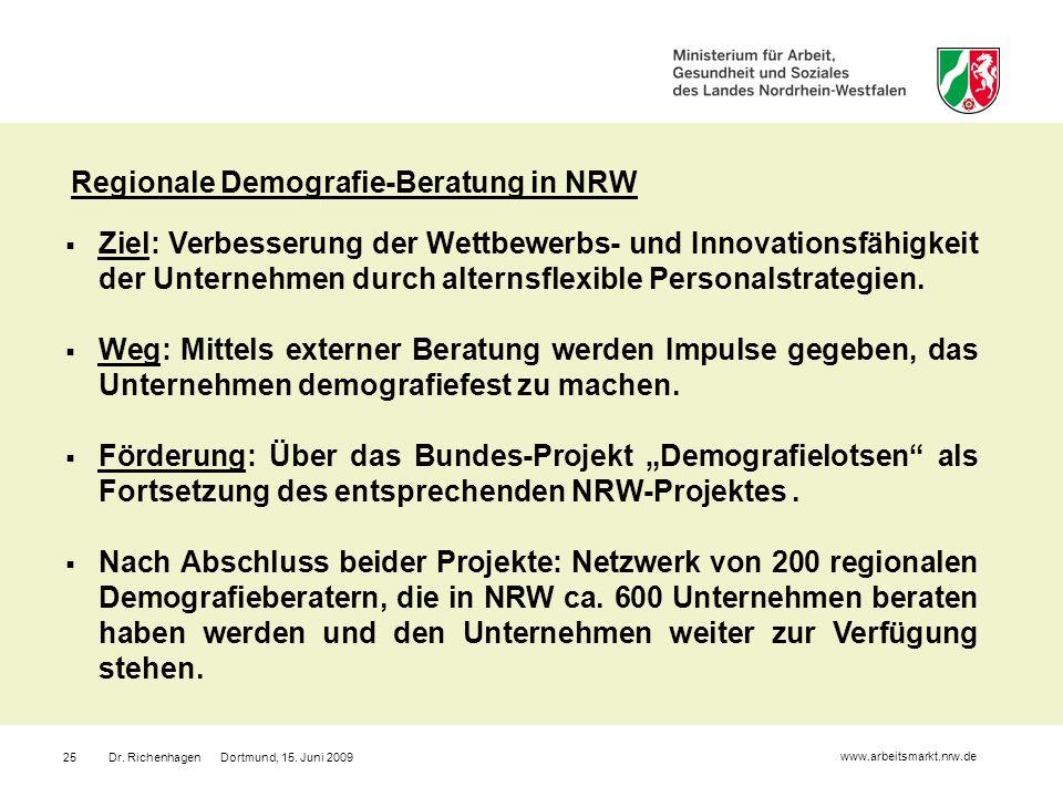 Regionale Demografie-Beratung in NRW