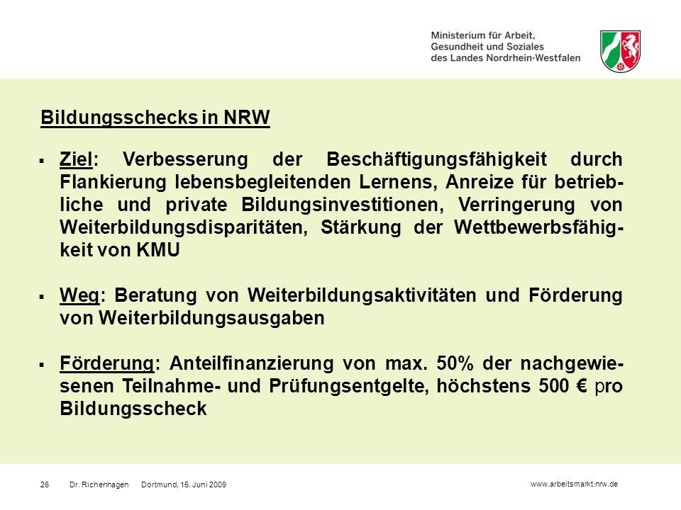 Bildungsschecks in NRW