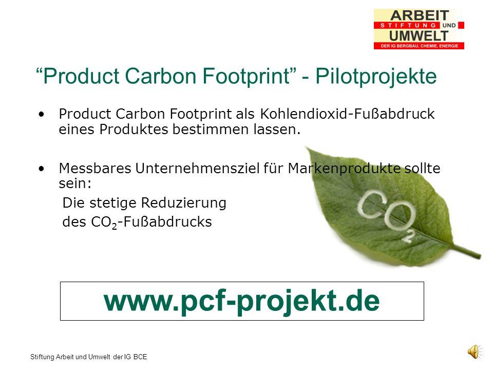 www.pcf-projekt.de Product Carbon Footprint - Pilotprojekte
