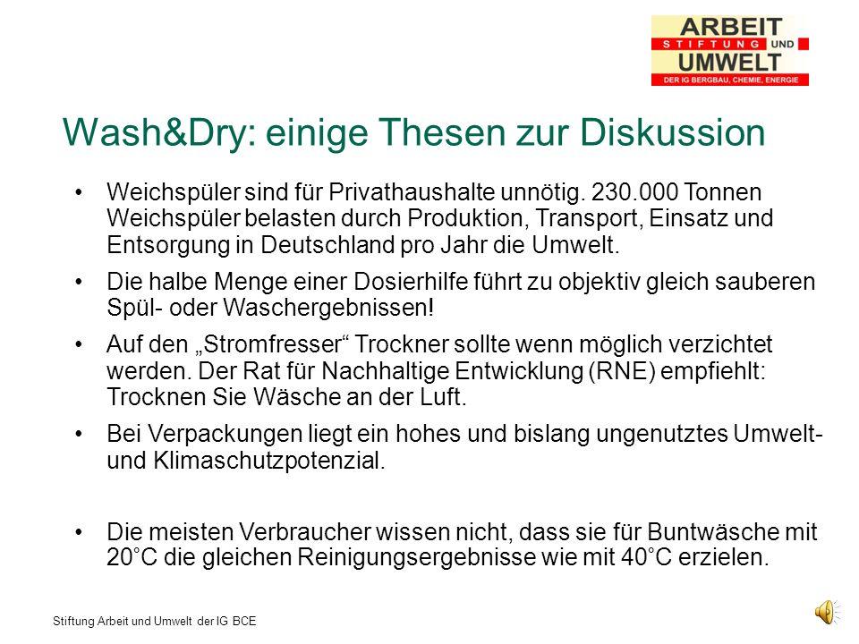 Wash&Dry: einige Thesen zur Diskussion
