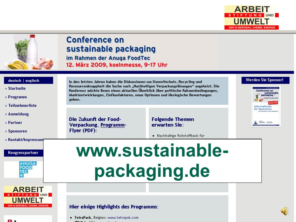 www.nova-institut.de www.sustainable-packaging.de