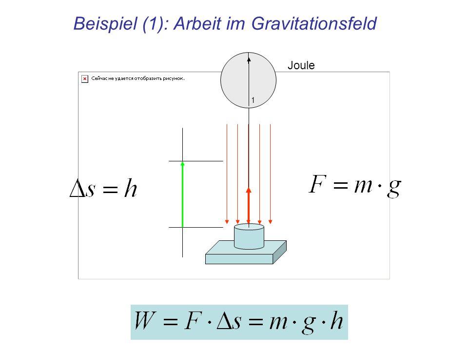 Beispiel (1): Arbeit im Gravitationsfeld