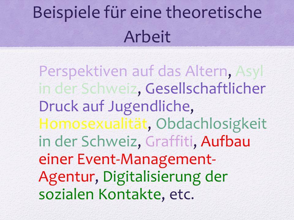 Beispiele für eine theoretische Arbeit