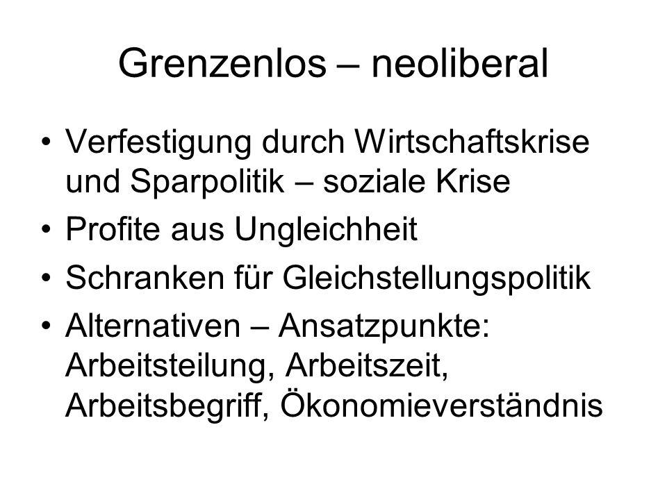 Grenzenlos – neoliberal