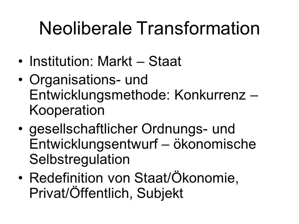 Neoliberale Transformation