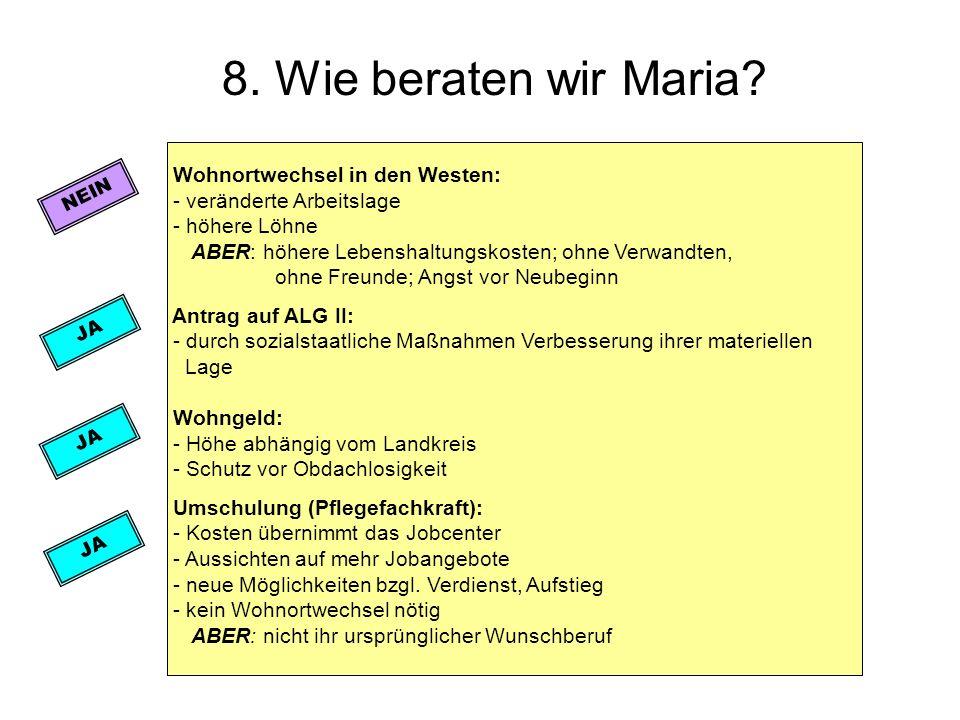 8. Wie beraten wir Maria