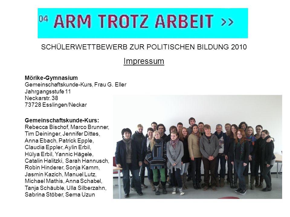 SCHÜLERWETTBEWERB ZUR POLITISCHEN BILDUNG 2010